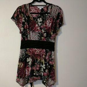 Dressbarn Womens Sz 2X Blouse Tops V Neck
